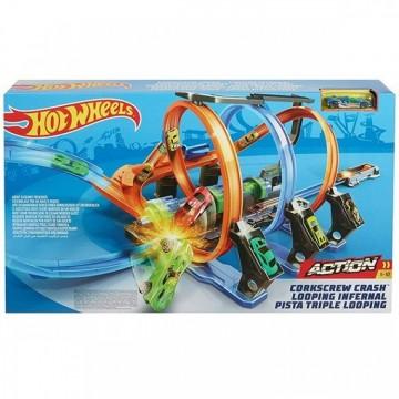 Трек Hot Wheels Corkscrew Crash Винтовое столкновение