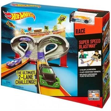 Трек Mattel Hot Wheels CDL49 Супер скоростная трасса / Безумные гонки