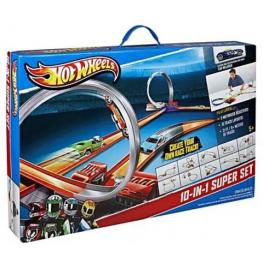 Трек Mattel Hot Wheels Y0267 Супер набор 10 в 1